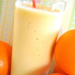 Orange Glorious I Recipe and Video - Milk, o.j., vanilla, sugar, water and ice...make an Orange Glorious combination.