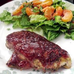 Raspberry-Glazed Rosemary Chicken