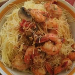 Shrimp over angel hair pasta recipes