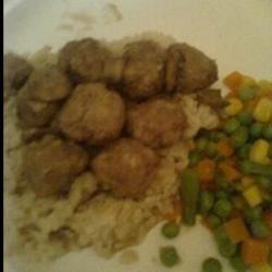 Norwegian Meatballs on Rice with Veggies