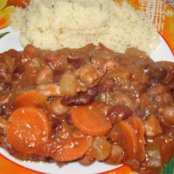 1-Pot, 3-Bean Chicken Stew Recipe - For health benefits, you can't top dried beans. They are rich in antioxidants and fiber and are low glycemic, helping to control blood sugar. If you don't use no-salt-added, beans, rinse to remove sodium.