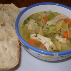 Chicken Noodle Soup Recipe and Video - Chicken noodle soup pretty much from scratch. This soup is delicious and very easy to make.