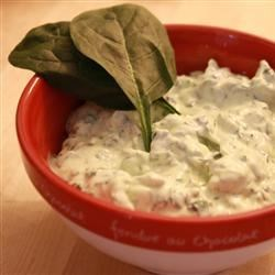 Spinach Dip I Recipe - One of those classic recipes that melds dry soup mix with frozen spinach and a sour cream/mayonnaise base.