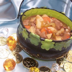 Gram's Irish Stew Recipe - This is a recipe for a filling and hearty Irish stew filled with beef, carrots, potatoes, mushrooms, and onion.