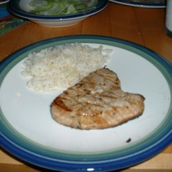 Tarragon Tuna Steaks Recipe - An aromatic tarragon marinade really livens up already flavorful tuna steaks.