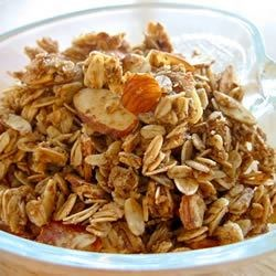 Honey Peanut Granola Recipe - This sweet, crunchy homemade granola combines quick oats with peanuts, wheat germ, honey, brown sugar, and vanilla. Baked in the oven, it's easy to make.