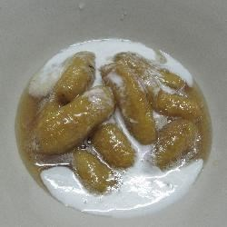Candied Kai Bananas in Syrup and Coconut Cream