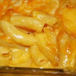 Mom's Baked Macaroni and Cheese Recipe and Video - Macaroni is combined with canned cheese soup, topped with shredded Colby cheese and baked.