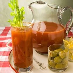 Bloody Mary Mix Recipe - My sister got this recipe from a restaurant in Ohio and all our family loves it. This is very spicy, and needs time to blend flavors.