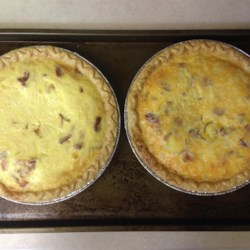 Quiche Lorraine I Recipe - This is the world's most famous quiche. It's filled with bacon, onion and Swiss cheese.