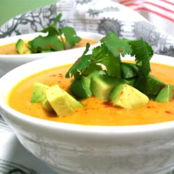 Pumpkin Chipotle Soup Recipe - This wonderful, quick soup works as a main dish with a compliment of cornbread, or as a great accent dish with your Mexican favorites!