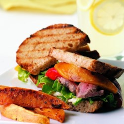Guinness-Marinated Bison Steak Sandwiches Recipe - EatingWell.com