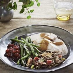 Apple-Shallot Roasted Turkey with Cider Gravy Recipe ...