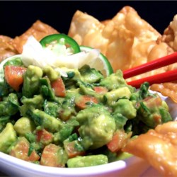 Japanese Fusion Guacamole Recipe - Wasabi and ginger give this unusual dip a nice and unexpected kick of flavor.