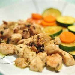 Chicken Scampi with sweet zuchinni and carrots