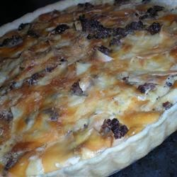 Sausage Mushroom Quiche Recipe - This savory quiche features sausage and mushrooms.