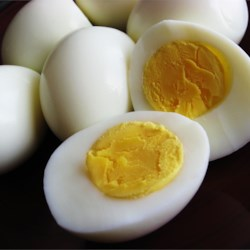 Ken's Perfect Hard Boiled Egg (And I Mean Perfect) Recipe - The use of a little salt and vinegar makes these hard boiled eggs easy to peel with no tearing or sticking.