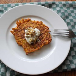 Butternut Squash Cakes Recipe and Video - Whether you're eating gluten-free or not, this is just a really nice, and very easy, winter dish.