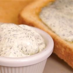 Dill Butter Recipe - This is a nice, spreadable dill compound butter.  My soon to be mother-in-law told me about this. It's great on toast and perfect for cooked carrots and potatoes.
