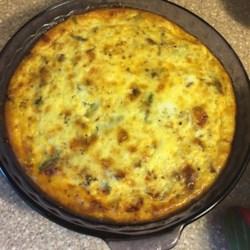 Asparagus Mushroom Bacon Crustless Quiche Photos