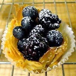 Phyllo Tarts with Ricotta and Raspberries