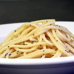 Poppy Seed Spaghettini Recipe - Try tossing hot, buttered spaghettini with a handful of poppy seeds for an easy and flavorful side dish.
