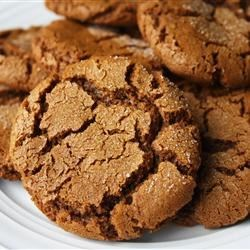 "Mom's Ginger Snaps Recipe - With just a few ingredients and even fewer steps, this recipe for fabulous, spicy ginger snap cookies is truly a ""snap"" to make!"