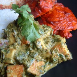 Absolutely Perfect Palak Paneer Recipe - This Indian dish combines fresh spinach and ricotta in a creamy curry. Use paneer if you can find it!  It is absolutely wonderful with basmati rice or naan (Indian flat bread).  The key is in the spices, which you can find at an Indian grocery.