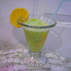 Party Punch X Recipe - The kids love this. It's simply a mixture of rainbow sherbet and ginger ale. I've used it at every party for the last 12 years; you cant go wrong.
