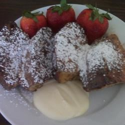 Panettone French Toast With Orange Mascarpone Sauce