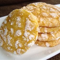 Lemon Whippersnappers Recipe - Lemon Whippersnappers, lemon crinkles, same thing!  This is a formed (ball) cookie rolled in powdered sugar, like chocolate crinkle cookies, only flavored with lemon.