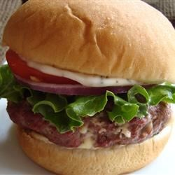 Blue Cheese Burgers Recipe and Video - These hamburger patties are made with ground beef combined with blue cheese, Worcestershire sauce, and dry mustard. Grill or broil for best flavor.
