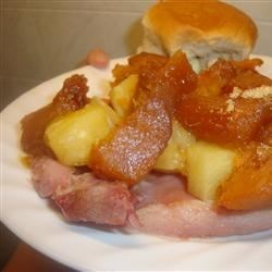Quick and Easy Ham with Sweet Potatoes