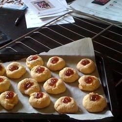 Hamentashen recipe, but in a round cookie shape