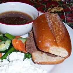 French Dip meal
