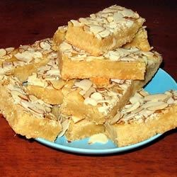 Dutch Almond Boterkoek Recipe - This is a Dutch almond buttercake bar cookie that keeps well.