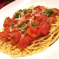 Spaghetti Italian Recipe - Delicious and not so sweet. Good to the last bowl!!