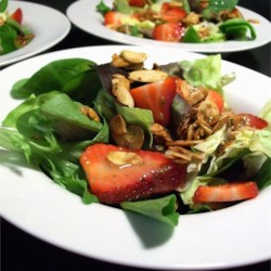 Strawberry Salad with Shallot-Honey Vinaigrette