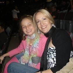 My daughter and I at the Taylor Swift concert