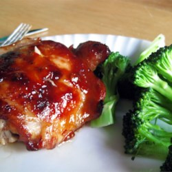 Baked Teriyaki Chicken Recipe and Video - A spicy, homemade teriyaki of soy sauce, cider vinegar, ginger and garlic enlivens chicken thighs or pieces. Easy to double for a large group.