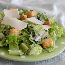 The Last Caesar Salad Recipe You'll Ever Need Recipe - This is a classic creamy Caesar salad dressing that's perfect for a salad or for dipping vegetables. To serve, toss with chopped romaine in a salad bowl and shave Parmesan cheese on top of salad; season with salt, black pepper, and a squeeze of fresh lemon juice.