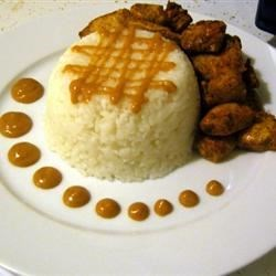 Tandoori Chicken with Jasmine Rice and a Spicy Orange Peanut Sauce