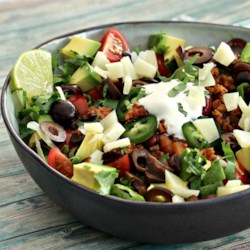 "Low-Carb ""Tacos"" Recipe - You don't need to sacrifice your taco cravings when watching your carbohydrates thanks to this recipe for low-carb taco bowls."