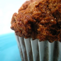 Molasses Bran Muffins Recipe - These moist bran muffins are sweetened with molasses and filled with raisins.