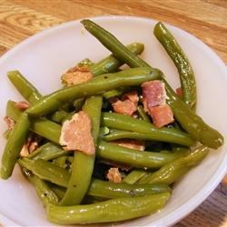 Down-South Style Green Beans Recipe - This recipe can also be cooked in a crock pot, and simmered all day. If fresh green beans are not available, use frozen. Just good ol' Southern style green beans with FLAVA!!