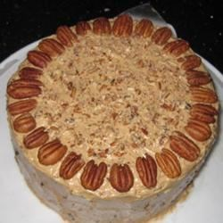 Carol's Butter Pecan Cake Recipe - A rich pecan layer cake covered with buttery frosting.