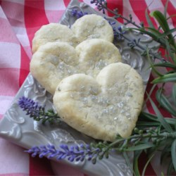 Lavender Shortbread Cookies Recipe - A buttery lavender-flavored dough that can be made into round shapes using a biscuit cutter, or various shapes using cookie cutters.