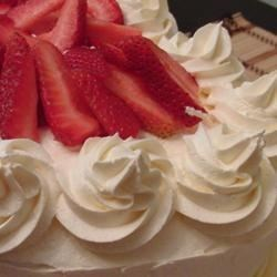 Cool Whipped Frosting Recipe - A light and cool topping vaguely resembling Bavarian cream.
