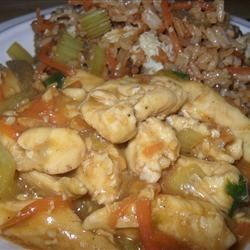 Chicken Honey Nut Stir Fry