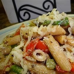 Pasta Primavera with Smoked Gouda Recipe - What better way to get your veggies in than with a savory Italian dish like Pasta Primavera. This version combines a little bit of heat from red pepper flakes with fresh vegetables, herbs and the smokey flavor of a smoked Gouda cheese. It's a wonderful combination of crunchy and creamy.